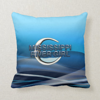 TEE Mississippi River Girl Throw Pillow