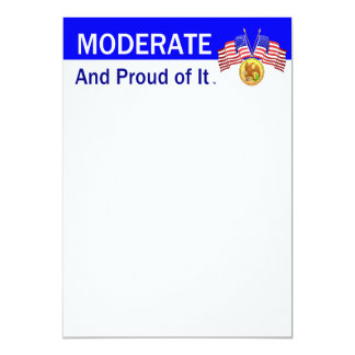 TEE Moderate And Proud Of It 13 Cm X 18 Cm Invitation Card