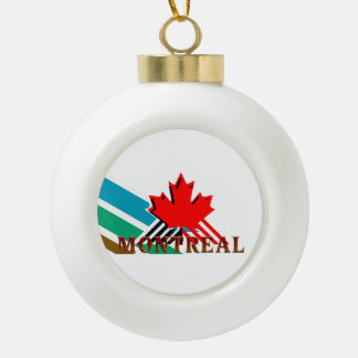 TEE Montreal Ceramic Ball Christmas Ornament