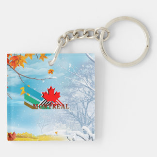 TEE Montreal Double-Sided Square Acrylic Key Ring