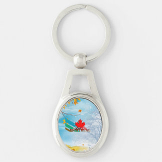 TEE Montreal Silver-Colored Oval Key Ring