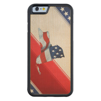 TEE New York Patriot Carved Maple iPhone 6 Bumper Case