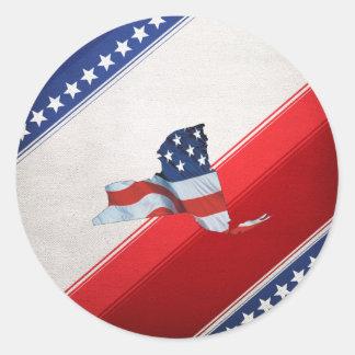TEE New York Patriot Classic Round Sticker