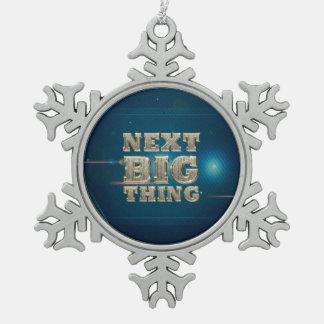 TEE Next Big Thing Snowflake Pewter Christmas Ornament