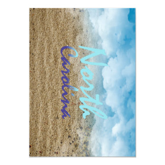 TEE North Carolina 13 Cm X 18 Cm Invitation Card
