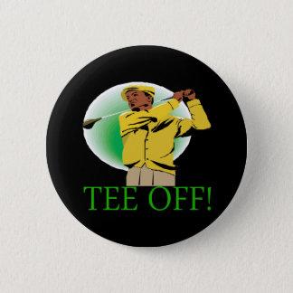 Tee Off 6 Cm Round Badge