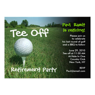 Tee Off Golf Retirement Party Invitation