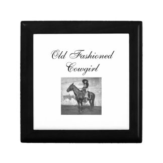 TEE Old Fashioned Cowgirl Small Square Gift Box