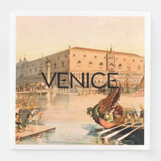 TEE On To Venice Disposable Serviettes