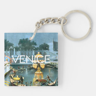 TEE On to Venice Double-Sided Square Acrylic Key Ring