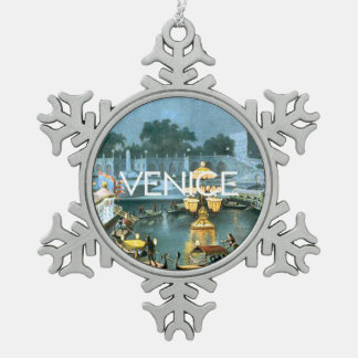 TEE On To Venice Pewter Snowflake Decoration