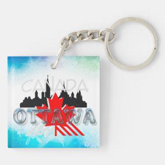 TEE Ottawa Double-Sided Square Acrylic Key Ring