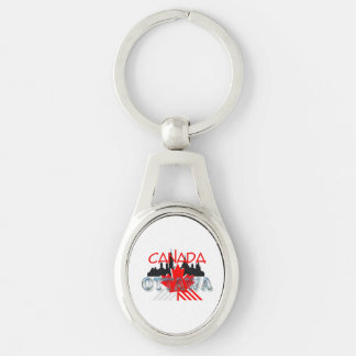 TEE Ottawa Silver-Colored Oval Key Ring