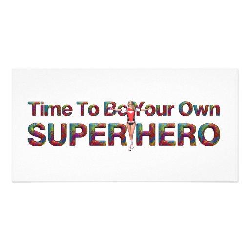 TEE Own Superhero Personalized Photo Card