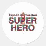 TEE Own Superhero Round Stickers