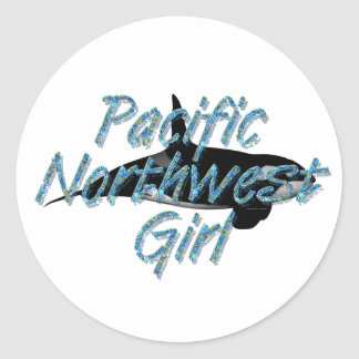 TEE Pacific Northwest Woman Classic Round Sticker