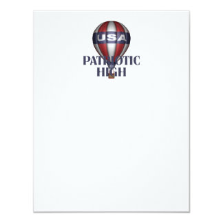 TEE Patriotic High 11 Cm X 14 Cm Invitation Card