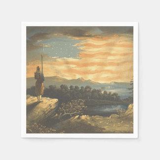 TEE Patriotic Sky Disposable Napkins