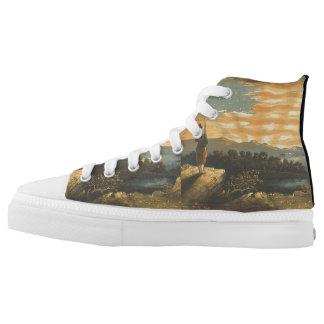 TEE Patriotic Sky Printed Shoes