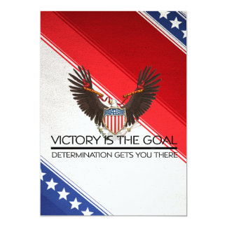 TEE Political Victory Slogan 13 Cm X 18 Cm Invitation Card