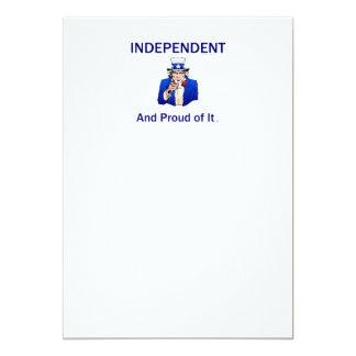 TEE Proud Independent 13 Cm X 18 Cm Invitation Card