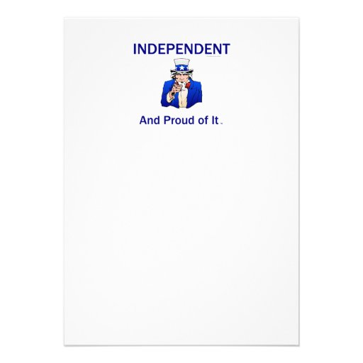 TEE Proud Independent Personalized Announcement