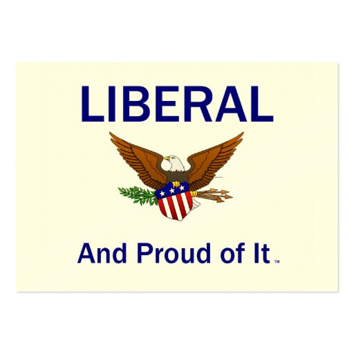 TEE Proud Liberal Business Cards