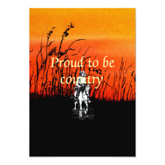 TEE Proud to be Country 13 Cm X 18 Cm Invitation Card
