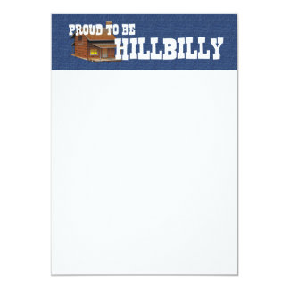 TEE Proud to be Hillbilly 13 Cm X 18 Cm Invitation Card