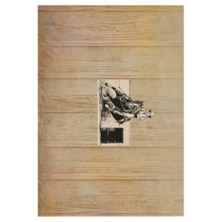 TEE Rodeo Cowgirl Wood Poster