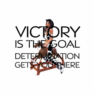 TEE Rodeo Victory Slogan Standing Photo Sculpture