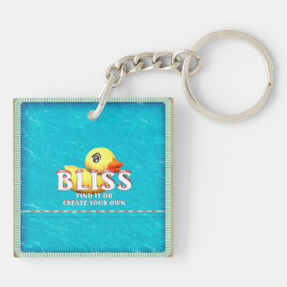 TEE Rubber Ducky Bliss Double-Sided Square Acrylic Key Ring