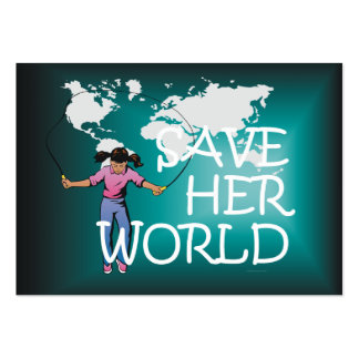 TEE Save Her World Business Card