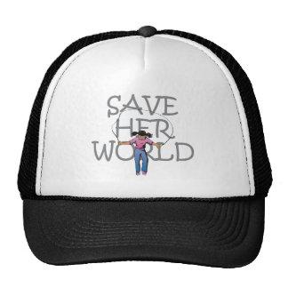 TEE Save Her World Trucker Hat