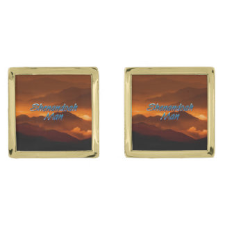 TEE Shenandoah Man Gold Finish Cuff Links