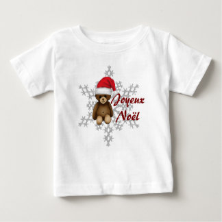 "Tee-shirt child ""Merry Christmas"", teddy and flake Baby T-Shirt"