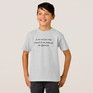 "tee-shirt child ""not stupid "" T-Shirt"