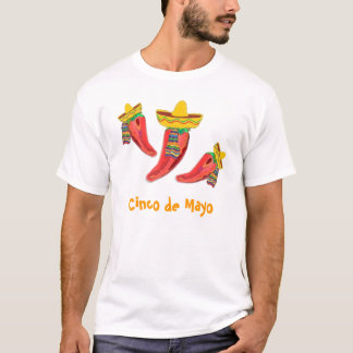 Tee Shirt, Chilli Peppers, Cinco de Mayo