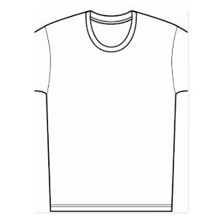 Tee Shirt Drawing Postcard