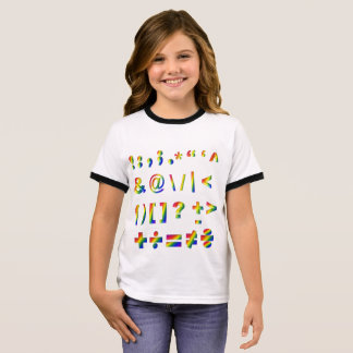 Tee shirt for girls with math symbols