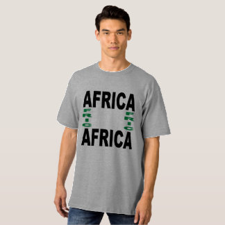 Tee-shirt gray Tall clearly AFRICA T-Shirt