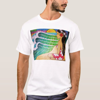 Tee shirt- Hinano Girl Sunset