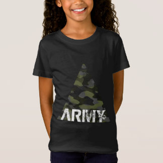 Tee-shirt in fine jersey for girls, ARMY T-Shirt