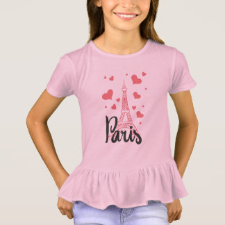 Tee-shirt To dishevel Paris Girl T-Shirt