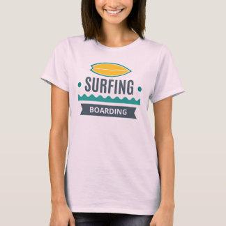 Tee-shirt Woman White BASIC Surfing T-Shirt