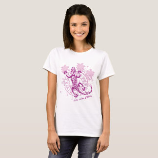 Tee-shirt woman white horoscope lizard T-Shirt