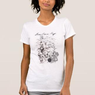 tee-shirt worn effect virgin baroque and angels T-Shirt