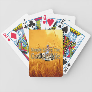 TEE Simply Living Cowgirl Life Bicycle Playing Cards
