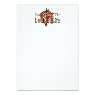 TEE Simply Living Cowgirl Life Card