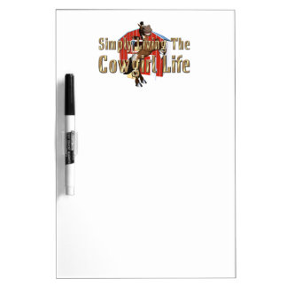 TEE Simply Living Cowgirl Life Dry Erase Board